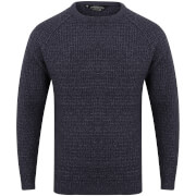 Kensington Men's Crew Neck Jumper with Twist - Dark Navy