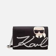 Karl Lagerfeld Women's K/Ikonik Shoulder Bag - Black