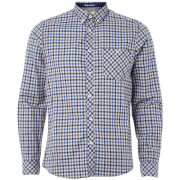 Chemise à Carreaux Homme Montpellier Tokyo Laundry - Bleu Monaco