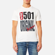 Levi's Men's 501 Graphic T-Shirt - 501 Original White