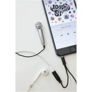 Mini Microphone Karaoké - Argenté