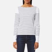 Tommy Hilfiger Women's Gaila Stripe Boat Neck Sweatshirt - Classic White/Peacoat