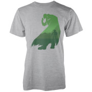 Nintendo The Legend Of Zelda Green Ganondorf Silhouette Men's Light Grey T-Shirt