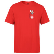 Nintendo Super Mario Mario Pocket Print Men's Red T-Shirt