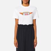 Ganni Women's Harway Love Dog T-Shirt - Bright White