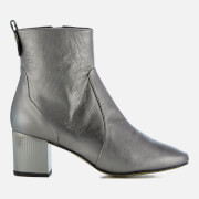 Carvela Women's Strudel Leather Heeled Ankle Boots - Gunmetal