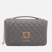 Love Moschino Women's Quilted Shoulder Bag - Grey