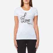 Love Moschino Women's Love Note T-Shirt - White