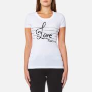 Love Moschino Women's Love Note T-Shirt - White