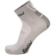 Santini La Vuelta 2017 Stage 15 Granada Coolmax Socks - Teal Blue