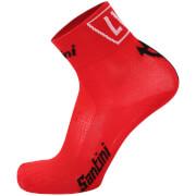 Santini La Vuelta 2017 El Infierno Angliru Coolmax Socks - Red