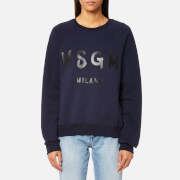 MSGM Women's Graffiti Logo Sweatshirt - Navy