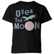 Over the Moon Kid's Black T-Shirt