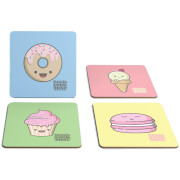 How To Cook That Kawaii Character 4 Pack Coaster Set