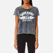 Superdry Women's 54 Brand T-Shirt - Acid Wash