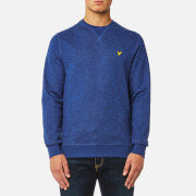 Lyle & Scott Men's Crew Neck Mouline Sweatshirt - Navy