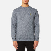 Lyle & Scott Men's Crew Neck Mouline Sweatshirt - Charcoal