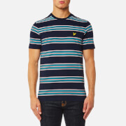 Lyle & Scott Men's Stripe T-Shirt - Navy