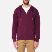 Joules Men's Coloured Loopback Zip Through Hoody - Plum