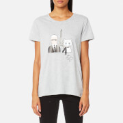 Karl Lagerfeld Women's Karl & Choupette in Paris T-Shirt - Grey