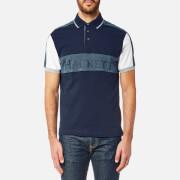 Hackett Men's Panel Multi Short Sleeve Polo Shirt - Navy/Multi