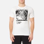Reebok Men's Speedwick Blend Short Sleeve Graphic T-Shirt - Chalk