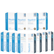 Nourkrin Woman Hair Growth Supplements 12 Month Bundle with Shampoo and Conditioner x4 (Worth £103.60)