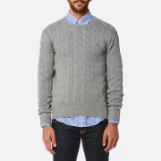 Polo Ralph Lauren Men's Cotton Cable Knitted Jumper - Fawn Grey Heather