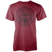Native Shore Men's Palm Beach T-Shirt - Burgundy