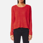 Samsoe & Samsoe Women's Nor On Short Ribbed Jumper - High Red Melange