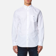 GANT Men's The Oxford Long Sleeve Shirt - White