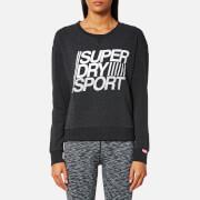 Superdry Sport Women's Lightweight Crew Neck Sweatshirt - Black Marl