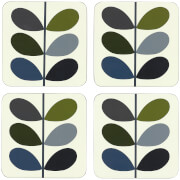 Orla Kiely Coasters - Khaki Marine (Set of 4)