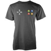 Camiseta Botones Mando Consola - Hombre - Gris oscuro