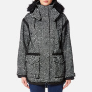 Superdry Women's Fjord Ovoid Parka - Grey Twill Boucle