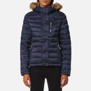 Superdry Women's Luxe Fuji Double Zip Hooded Jacket - Luxe Navy