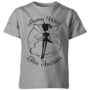 Away With The Fairies Kid's Grey T-Shirt