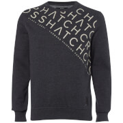 Sweat Homme Leeroy Crew Crosshatch - Bleu Marine Chiné