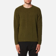 Folk Men's Interference Crew Jumper - Military Green
