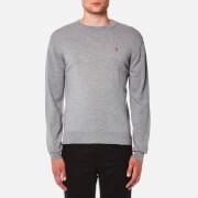 AMI Men's Crew Neck Heart Logo Sweater - Grey
