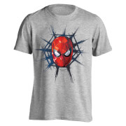 Marvel Spider-Man Men's Spider Web T-Shirt - Light Grey Marl