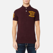 Superdry Men's Classic Short Sleeve Superstate Polo Shirt - Dark Berry Grindle