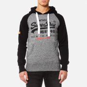 Superdry Men's Premium Goods Raglan Hoody - Urban Grey Grit