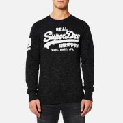 Superdry Men's Vintage Logo Crew Sweatshirt - Smoked Space Dye Grit