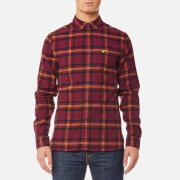 Lyle & Scott Men's Check Flannel Shirt - Claret Jug