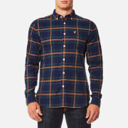 Lyle & Scott Men's Check Flannel Shirt - Navy