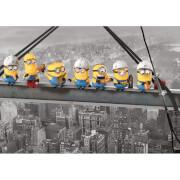 Affiche sur Toile Moi moche et méchant Minions Déjeuner sur un gratte - ciel - 85 x 120cm