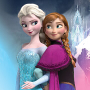 Affiche sur Toile la Reine des Neige Disney Elsa et Anna - 30 cm x 30 cm