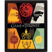 Game of Thrones Sigils 2 10 x 8 Inch 3D Lenticular Poster