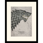 Affiche Encadrée Stark Game of Thrones - 30 x 40 cm